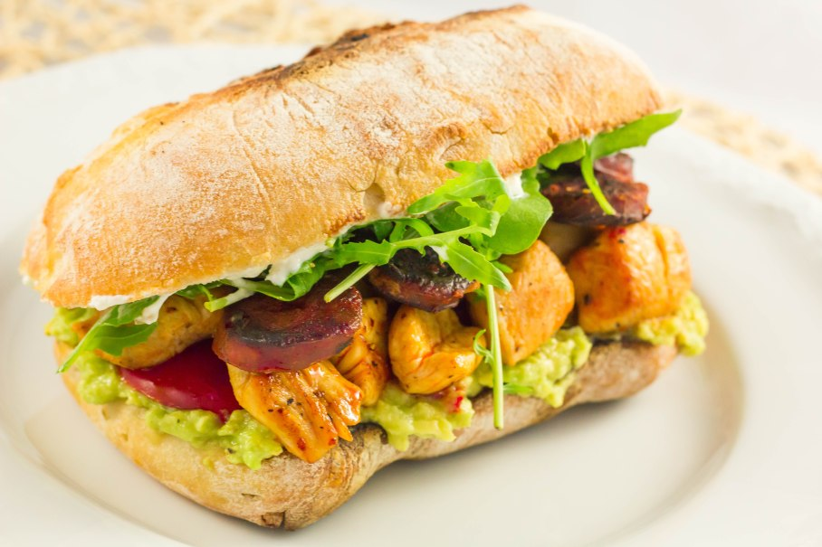 Turkey-chorizo sandwich