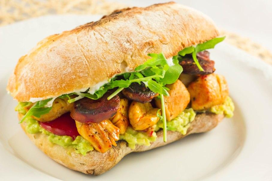Turkey-chorizo sandwich
