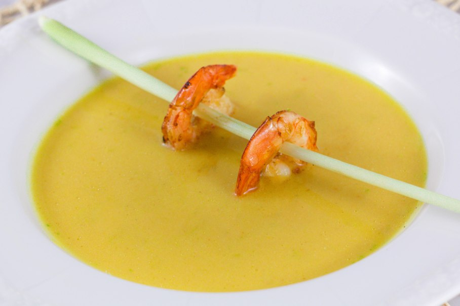 Squash and cocnut soup