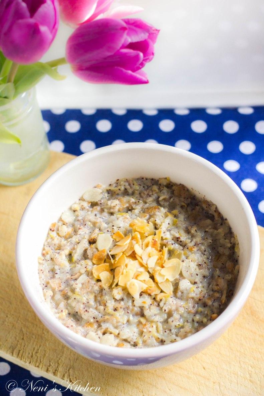 pear lemon poppy seed porridge