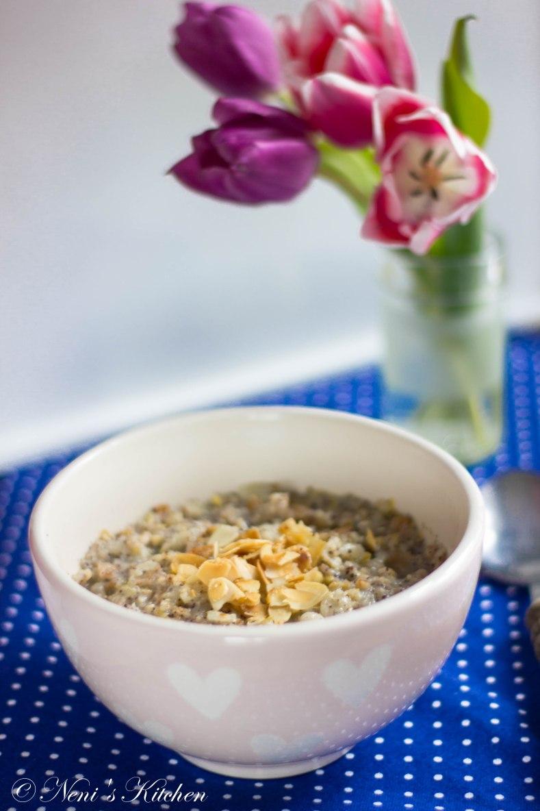 poppy seed lemon pear porridge