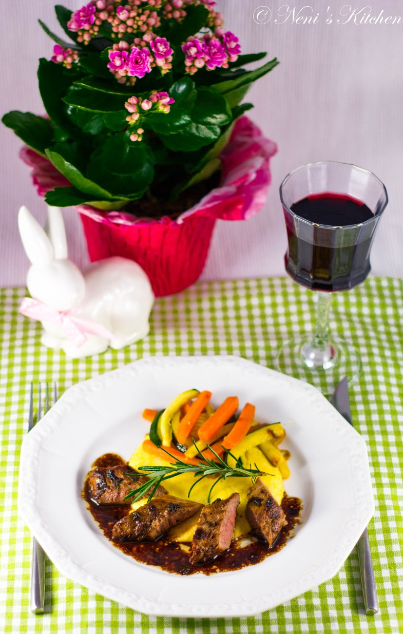 Honey thyme & lemon marinated lamb filets 4