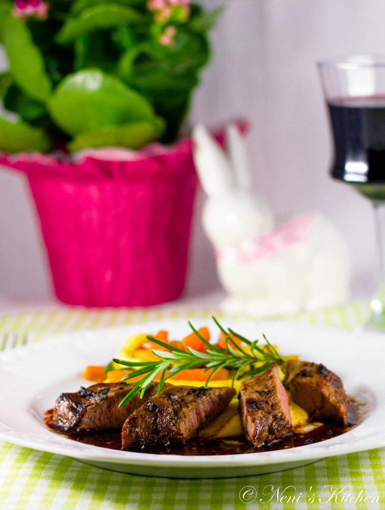 honey thyme & lemon marinated lamb filets 2