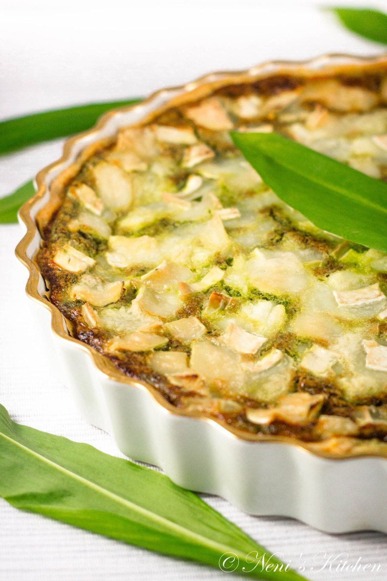 Wild garlic & goat cheese tart 2