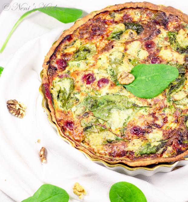 grape gorgonzola & spinach tart 2
