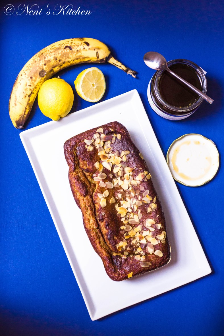 summer lemon banana bread