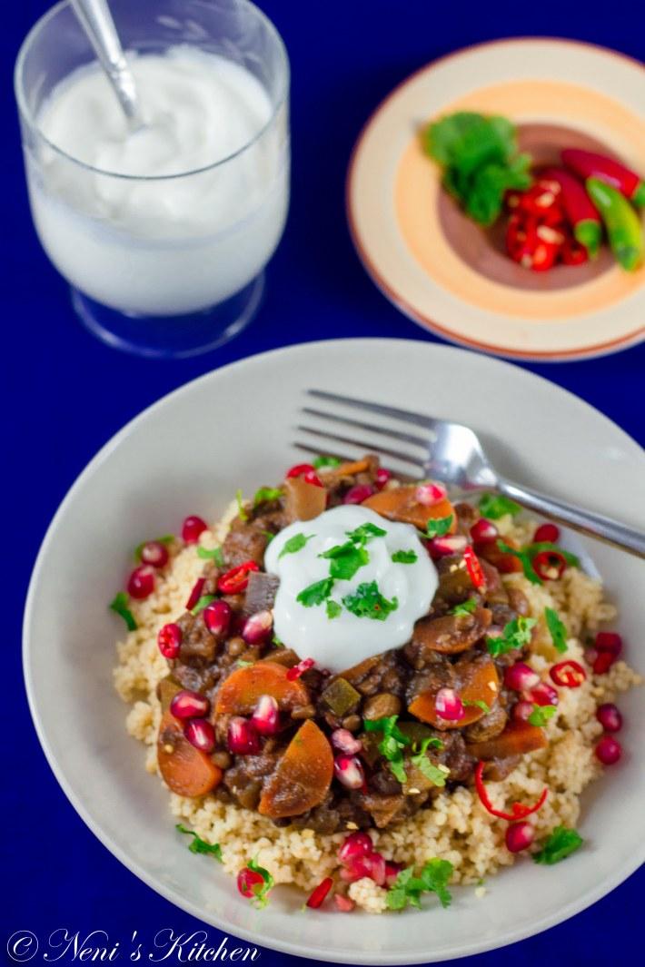 lentil & vegetable stewe