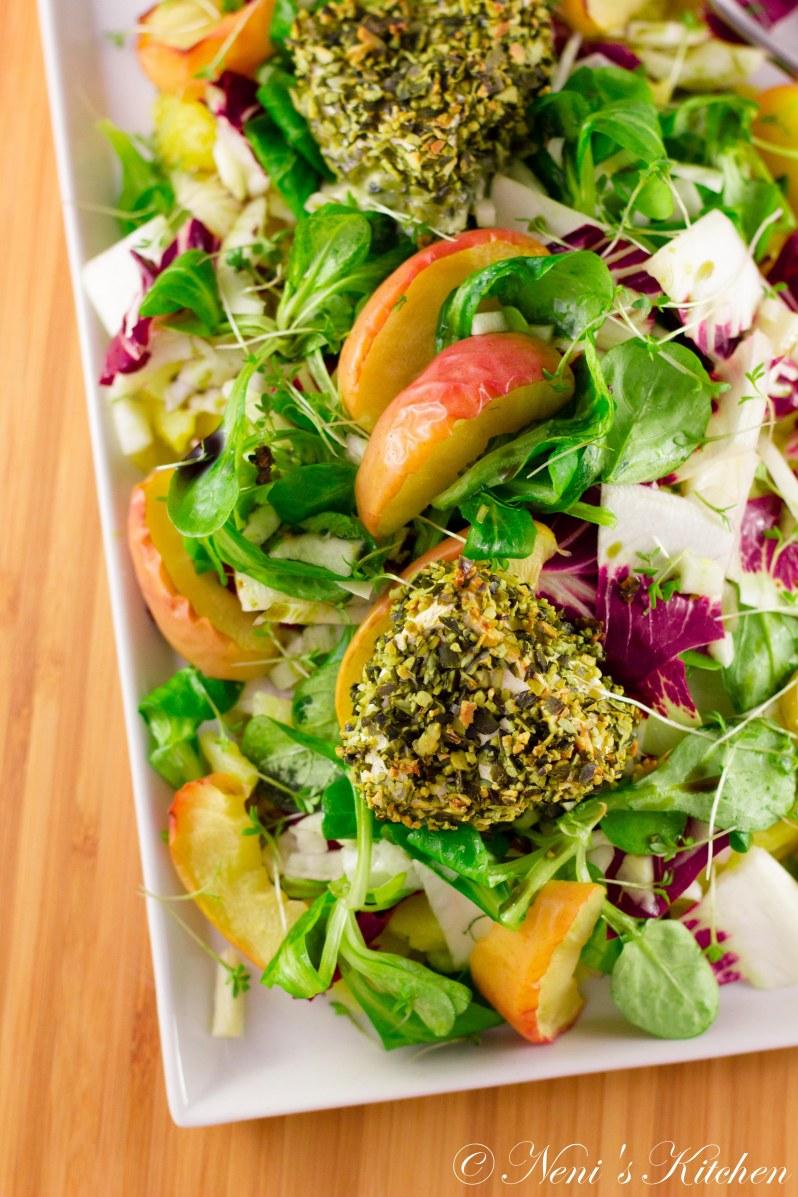 Styrian-style camembert salad