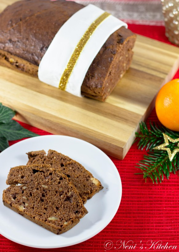 Dark chocolate & orange banana loaf
